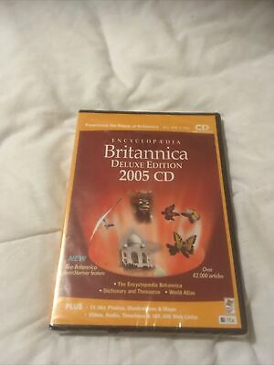 Encyclopedia Britannica Deluxe Edition 2005 CD -brand New Sealed • 6.99£