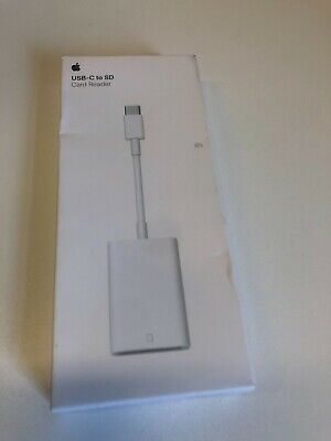 Apple USB-C To SD Card Reader Cable - White (A2082) Genuine • 27.99£