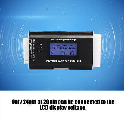 Computer Power Supply Tester Aluminum Alloy Support For 20/24 Pin LCD Screen ATX • 12.97£