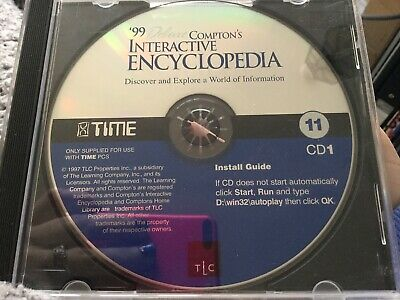 '99 Deluxe Compton's Interactive Encyclopaedia Disc 1 & 2 DVD CD-ROM • 0.50£