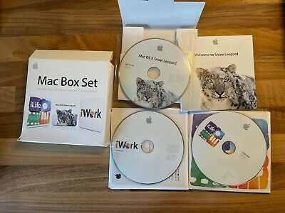 Mac Box Set Including Snow Leopard, ILife, IWork • 2£