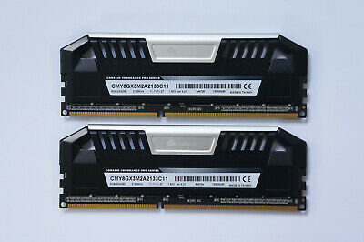 8GB Corsair Vengeance Pro DDR3 Memory 2133MHz CL11 PC3-17000 CMY8GX3M2A2133C11 • 44.99£