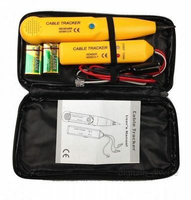 Cable Finder Tone Generator Probe Tracker Wire Network Tester Tracer Kit • 16.79£