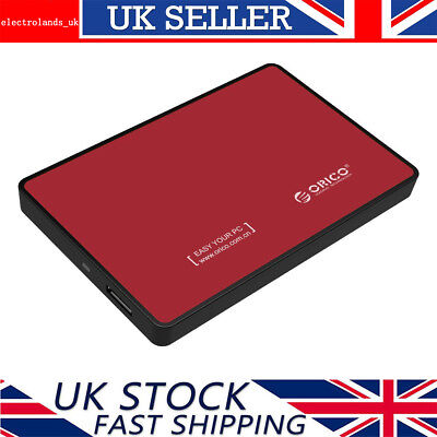 ORICO 2.5 Inch USB 3.0 SATA III Hard Drive Disk HDD/SSD Enclosure Caddy Case Red • 7.49£