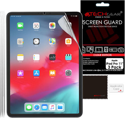 3 Pack TECHGEAR Screen Protector Guard Cover For IPad Pro 11  2020 / 2018, Air 4 • 3.95£