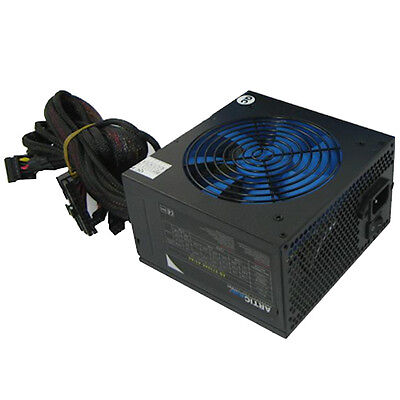 ACE Artic 750W Black ATX Gaming PC 2x6+2Pin PCIe PSU Power Supply 120mm Blue • 38.99£