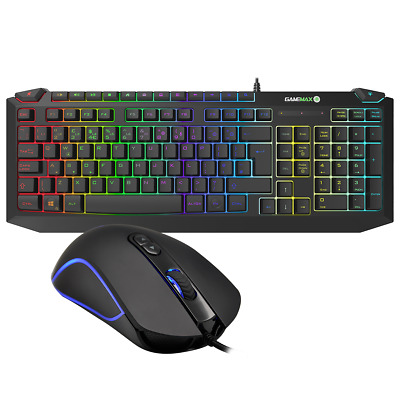 Game Max 7 Colour LED USB Gaming Keyboard And Mouse Bundle Set FPS MOBA Gamer UK • 23.02£