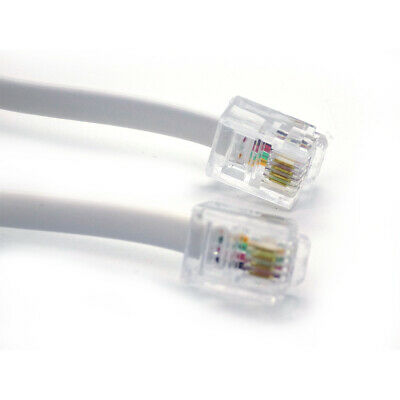 20m Meter RJ11 - RJ11 ADSL BT Phone DSL Broadband Lead Modem Router Cable WHITE  • 3.75£