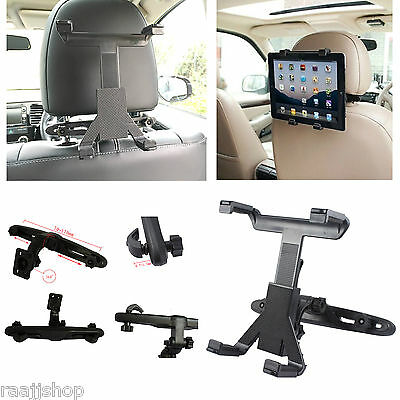 Universal In Car Back Seat Headrest Holder Mount Cradle For Ipad Tablet Samsung • 5.98£