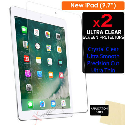 2x CLEAR Screen Protector Guard Covers For Apple IPad 9.7  (2018 / 2017) • 2.69£