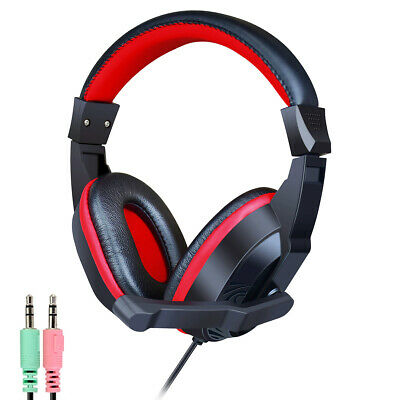 HiPoint Stereo Gaming Headset Headphones With Boom Mic For Computer PC Laptop UK • 12.95£