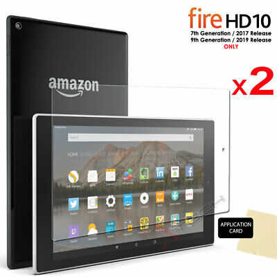 2x Screen Protector Covers For Amazon Fire HD 10 9th / 7th Generation 2019 /2017 • 2.99£