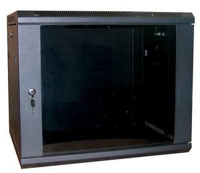 12U 19  390MM Network Cabinet Rack Wall Mounted Black Data Comms Patch Panel • 82.99£