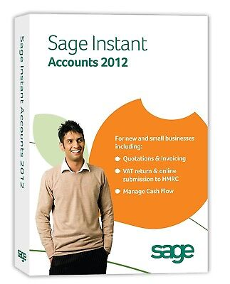 SAGE INSTANT ACCOUNTS 2012 - FOR NEW AND SMALL BUSINESS - New & Sealed • 9.95£