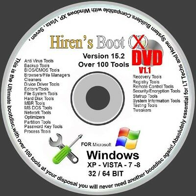 FIX & REPAIR WINDOWS XP VISTA 7 8 8.1 10 BOOT DISC ON DVD *Updated Version* • 2.99£