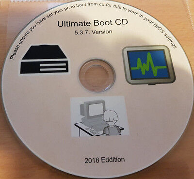Ultimate Boot CD Restore, Repair, And Recovery For Windows XP Vista 7 8 10 • 2.59£