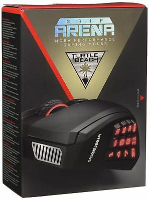 Turtle Beach Grip Arena 12 Side Button MMO MOBA Gaming Mouse For PC - Black • 24.99£