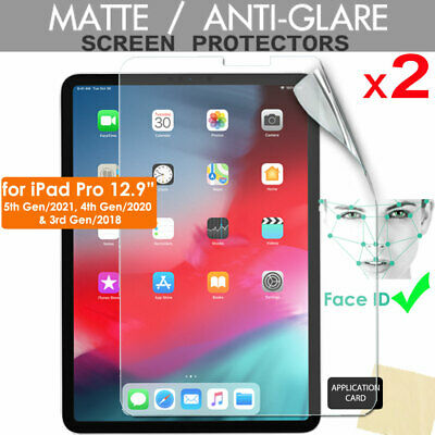 2x ANTIGLARE MATTE Screen Protectors For New Apple IPad Pro 12.9  2020 / 2018 • 3.49£