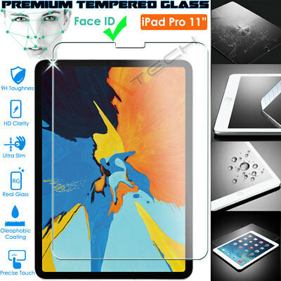 100% Genuine TEMPERED GLASS Screen Protector For Apple IPad Pro 11  2020 / 2018 • 5.95£