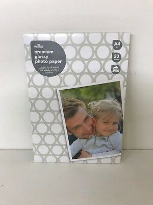 Photo Paper A4 Glossy Inkjet Premium High Quality 250gsm 20 Sheets Wilko Branded • 2.99£