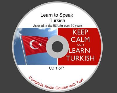 Learn Turkish - Complete Audio And Text Course On 1 CD Rom Disk • 1.99£