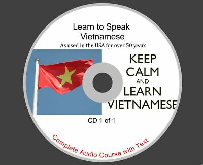 Learn Vietnamese - Complete Audio And Text Course On 1 CD Rom Disk • 1.99£