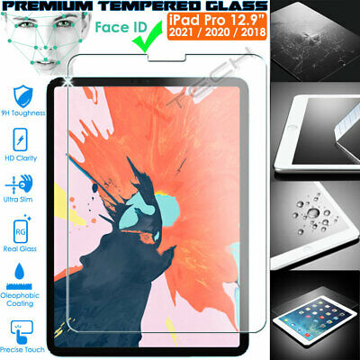 Genuine TEMPERED GLASS Screen Protector For Apple IPad Pro 12.9  2020 Face ID • 6.95£