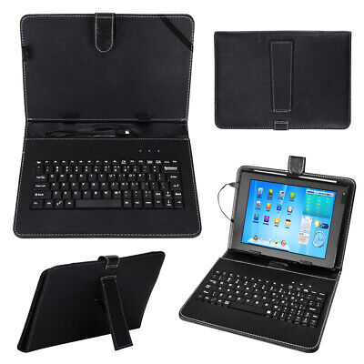 Black Leather Case+USB Keyboard With Stand For 10 /10.1  Inch Android Tablet UK • 7.59£