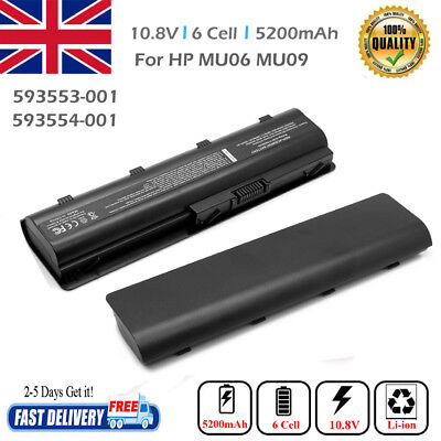Notebook Spare Battery For HP/Compaq 593553-001 MU06 MU09 593554-001 CQ42 6cells • 14.27£