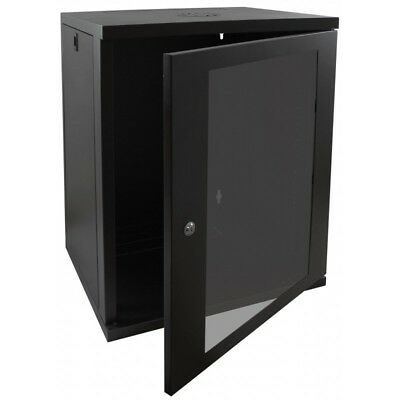15U 450mm Deep Wall Mounted Data Cabinet Network Cabinet Comms Cabinets 19 Inch • 89.99£