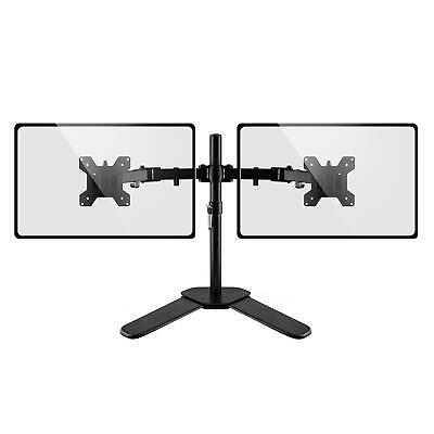 Dihl Double Dual Display Computer Monitor Arm Mount Desk Stand 13-27  Screen LED • 18.99£