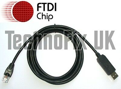 FTDI USB To Serial/RS232 Console Rollover Cable For Cisco Routers - RJ45 • 13.99£