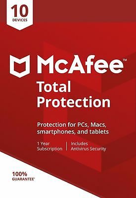 McAfee Total Protection 2020, 10 Multi-Devices, 1 Year (LATEST DOWNLOAD) • 10£