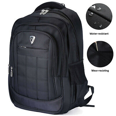 Waterproof Mens 17 Inch Laptop Backpack Rucksack Outdoor Travel School Bag Black • 19.99£