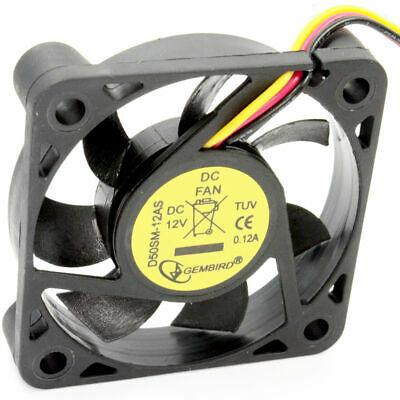 Case Fan For PC Tower 50mm X 50 X 10mm 12V 0.12A Sleeve Bearing • 2.95£