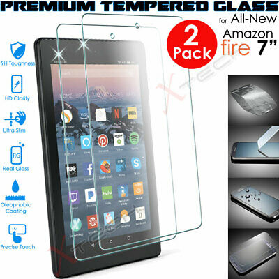 2x 100% TEMPERED GLASS Screen Protector For Amazon Fire 7  9th Generation 2019  • 6.95£
