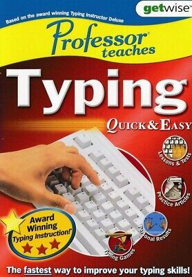 Professor Teaches Typing - Quick & Easy PC Tutorial Software  Brand New & Sealed • 3.95£