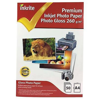 Inkrite Glossy A4 Inkjet Photo Paper 260gsm - 50 Sheets • 6.97£