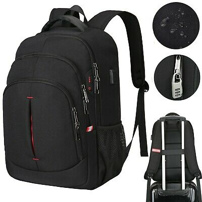 Large Laptop Backpack USB Waterproof Anti-Theft Business Travel School Rucksack • 18.99£