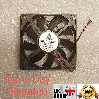 12V 2Pin DC Brushless 8cm 80x80x15mm 80mm Computer Case Cooling Fan  • 7.85£