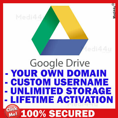 Unlimited Storage Google Drive Account - Your Own Domain And Username – Lifetime • 32.59£