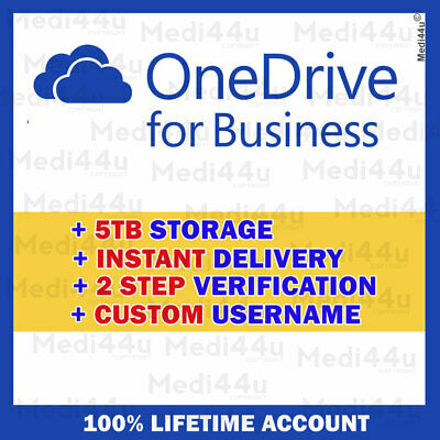 OneDrive For Business 5TB [Custom USERNAME] [Lifetime Account] • 3.96£