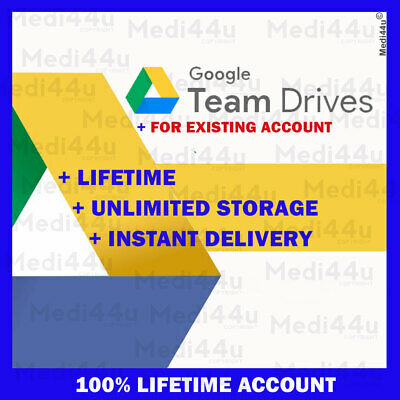 Google Team Drives Unlimited Storage (For Your Existing Google Drive Account) • 1.24£