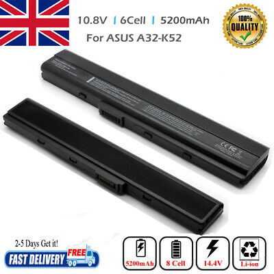 6 Cell Laptop Battery For Asus K52 K52f A52 A52f A52J A32-K52 A52f A42 X52f UK • 10.59£