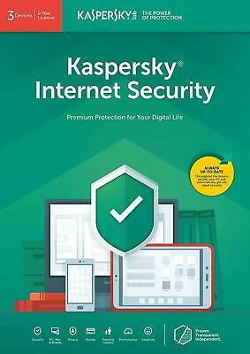 Kaspersky Internet Security 2020 3PC 1 Year Antivirus Multi-device License • 12.99£