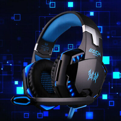 3.5mm Gaming Headset MIC LED Headphones For PC SW Laptop PS4 Slim Pro One • 24.99£