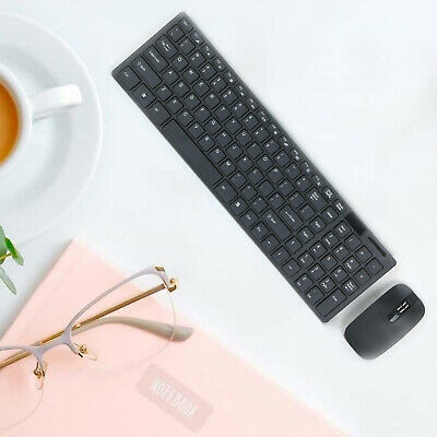 Slim 2.4GHz Cordless Wireless Keyboard And  Mouse Set For PC MAC Laptop Tablet • 10.99£