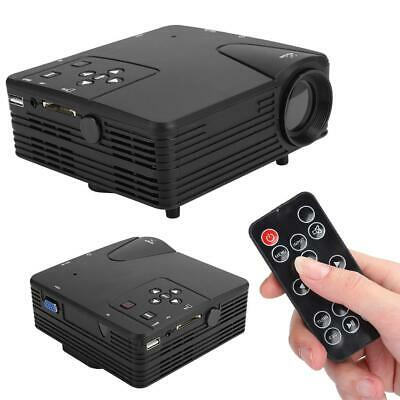 1080P Mini LED Projector Home Theater Cinema Portable Multimedia HDMI VGA USB • 33.47£