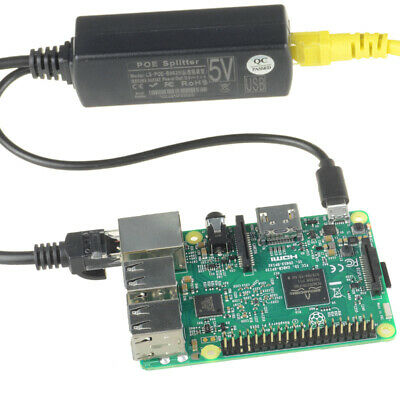 48V To 5V 2.4A Active POE Splitter Power Module Over Ethernets Micro USB Adapter • 5.99£