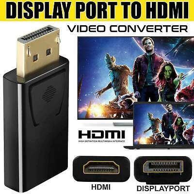 Display Port DP Male To HDMI Female Flat Adapter Connector Converter For HDTV PC • 3.29£